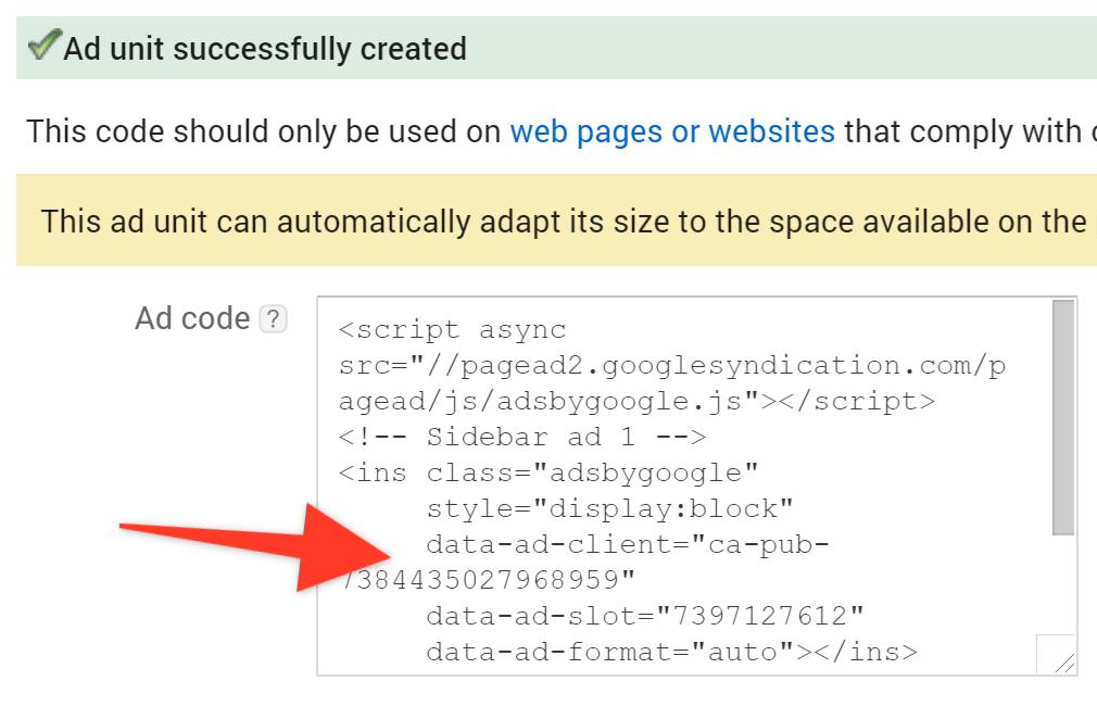 how to add google adsense code to wordpress