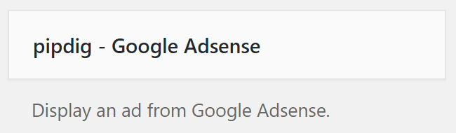 pipdig Google Adsense widget