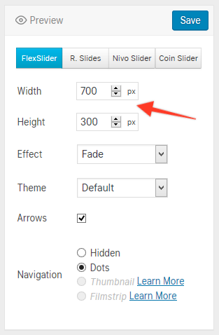 WordPress: How to display photos in the Full Width Slider