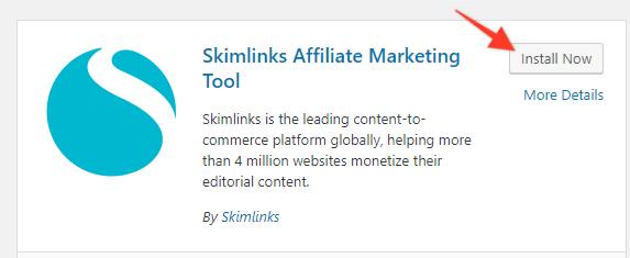 Install the Skimlinks plugin