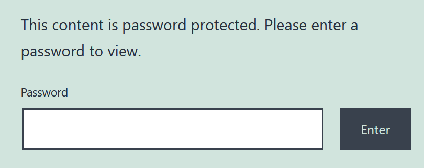 This content is password protected. Please enter a password to view.